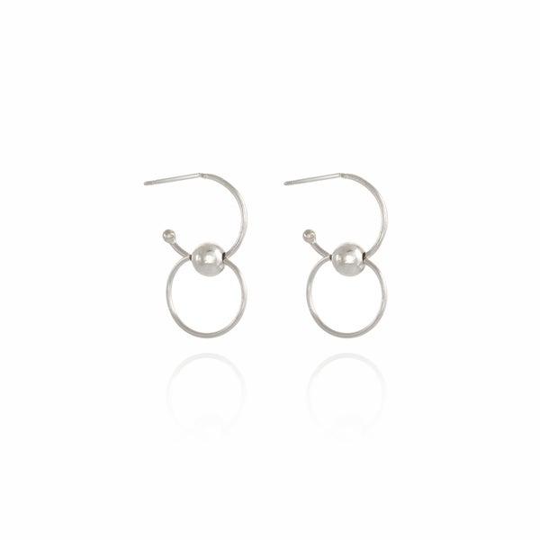 Image of Carousel Silver Earrings