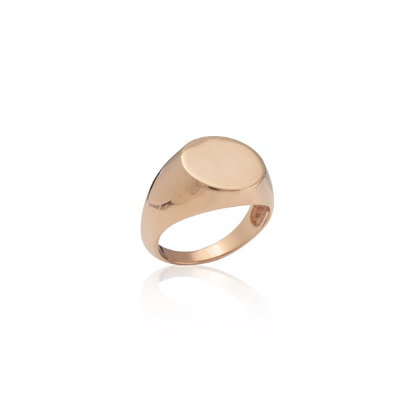 Image of Rose Gold Signet Ring