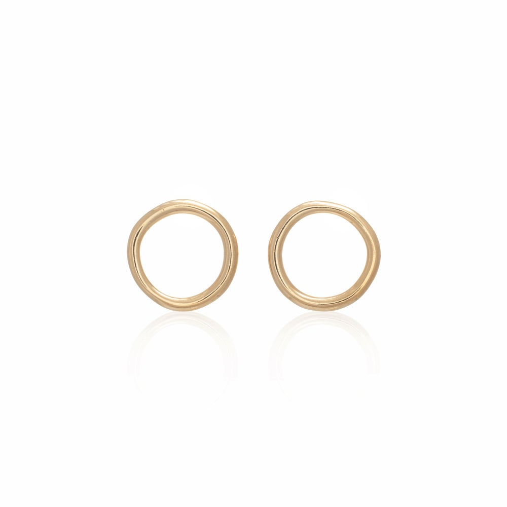 Image of Gold Unicycle Earrings