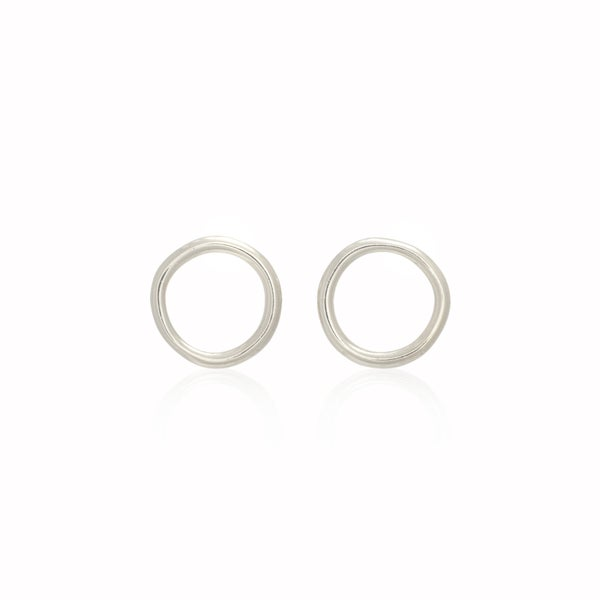 Image of Silver Unicycle Earrings