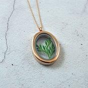 Image of Imogen - Rose Gold Botanical Leaf Sprig Locket