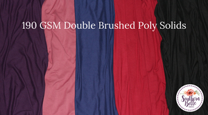 Image of Double Brushed Poly Solids - Apple Butter