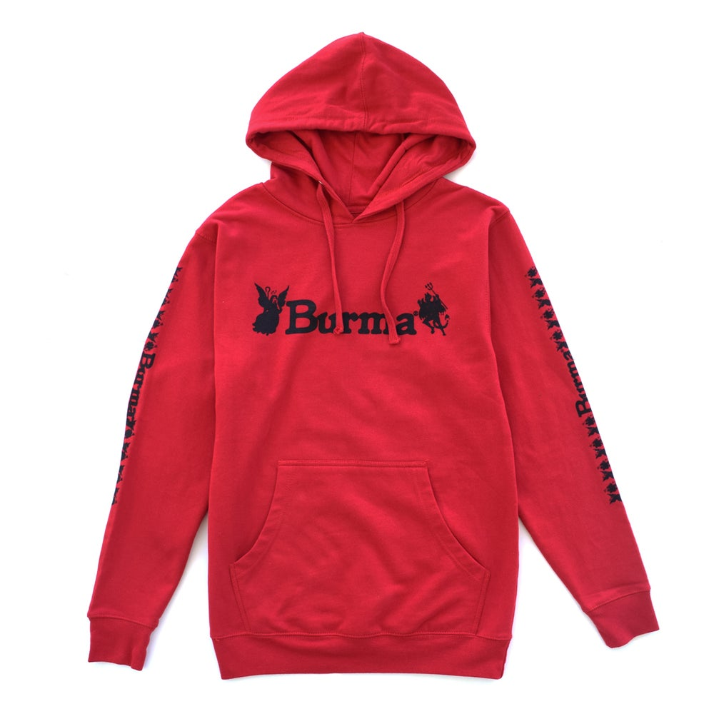 """Image of """"EITHER OR"""" HOODIE (RED)"""
