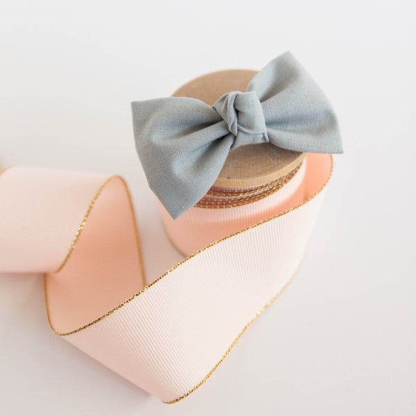 Image of Signature Knotted Gray Bow