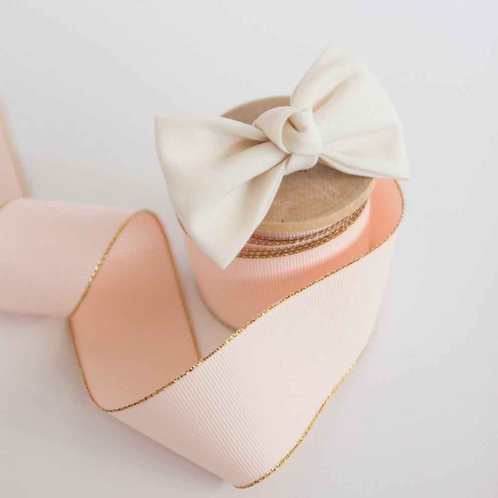 Image of Cream Signature Knotted Bow