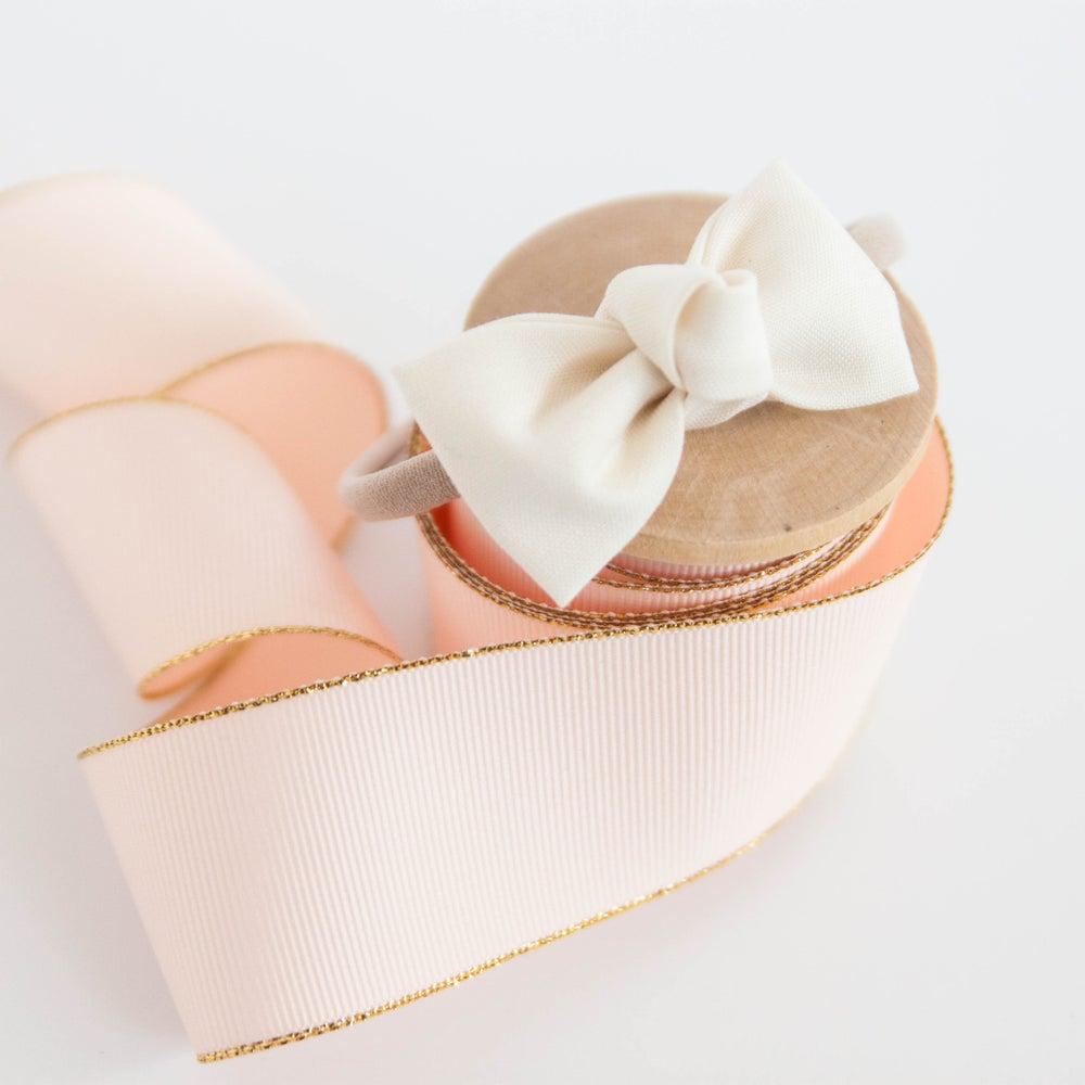 "Image of Cream Petite 2.5""  Knotted Bow Headband"
