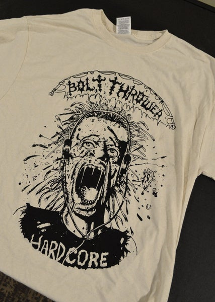"Image of ""BT hardcore"" natural short sleeve shirt"