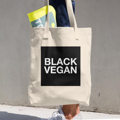 Image of Black Vegan Tote Bag