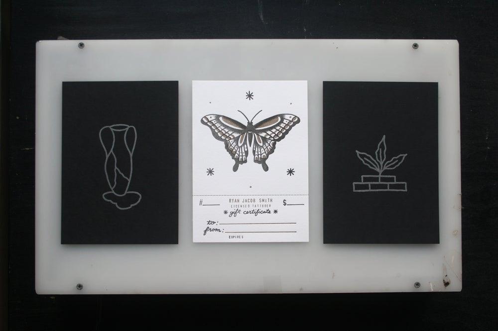 Image of Black Letterpress & Tattoo Gift Certificate