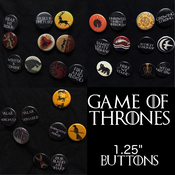 "Image of Game of Thrones 1.25"" Buttons"