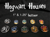 Image of Hogwarts House Buttons