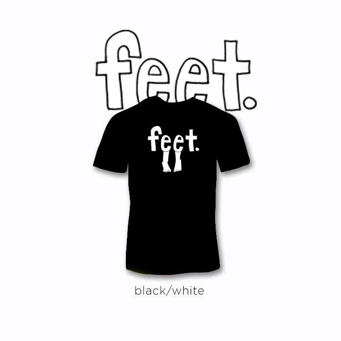 Image of feet logo tees