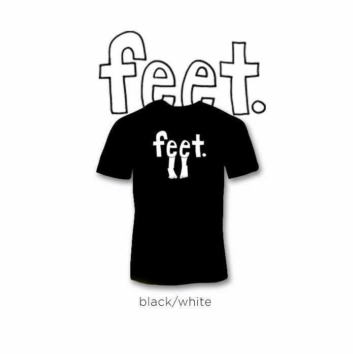 Image of feet logo tees