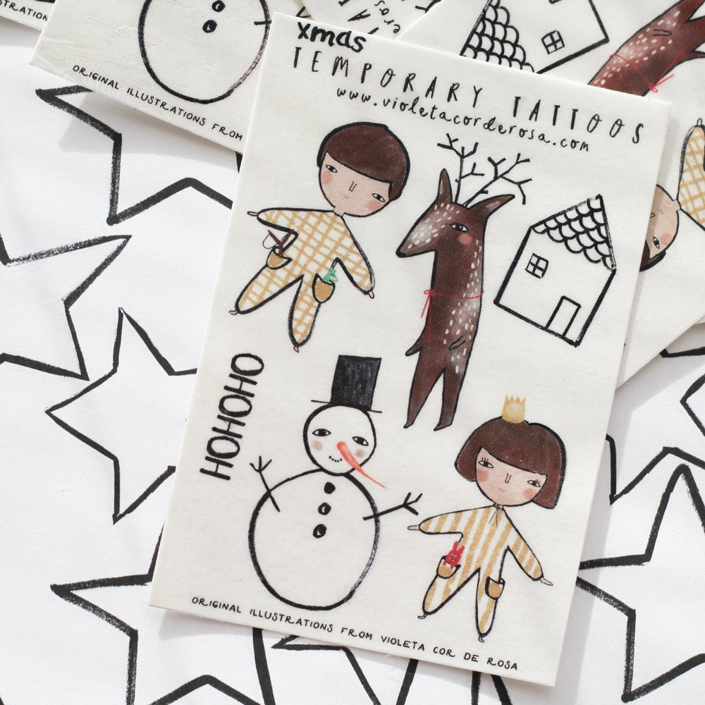 Image of XMAS SPECIAL EDITION TEMPORARY TATTOO