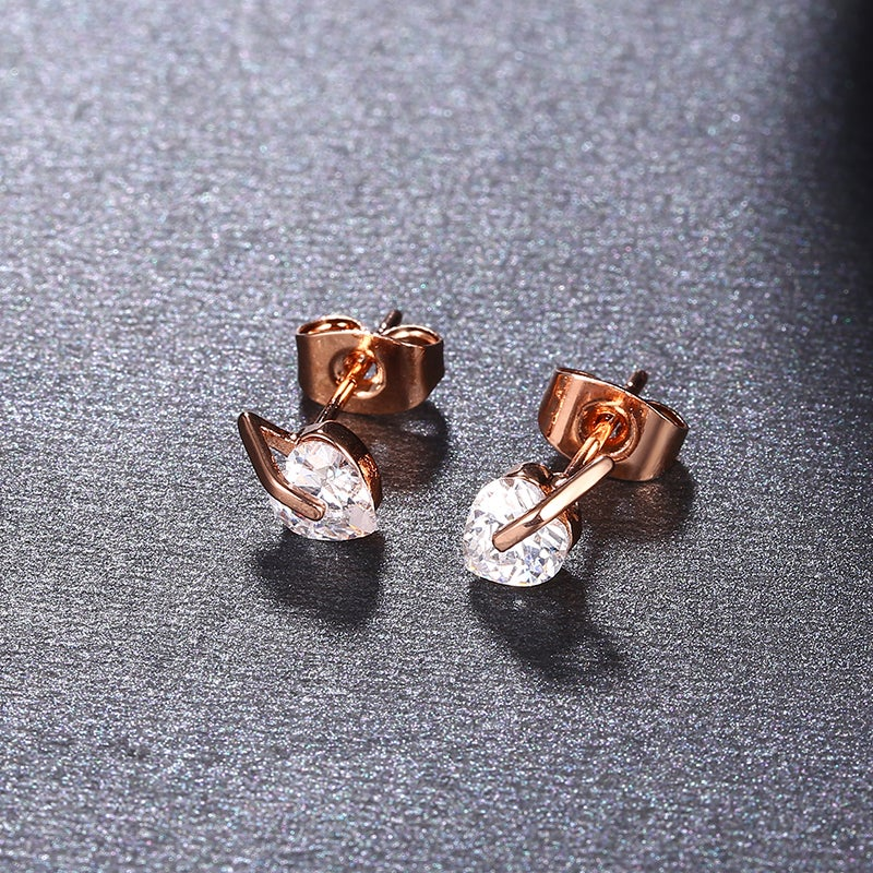 Image of Rose Gold Plated Peach Studs