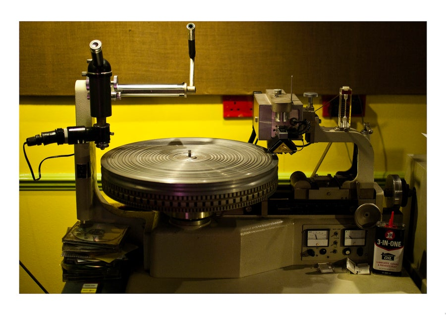 Image of Vinyl Lathe - A2 Poster