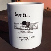 Image of Love Is Trains Mug