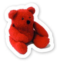 Image of Well-Red Bear sticker
