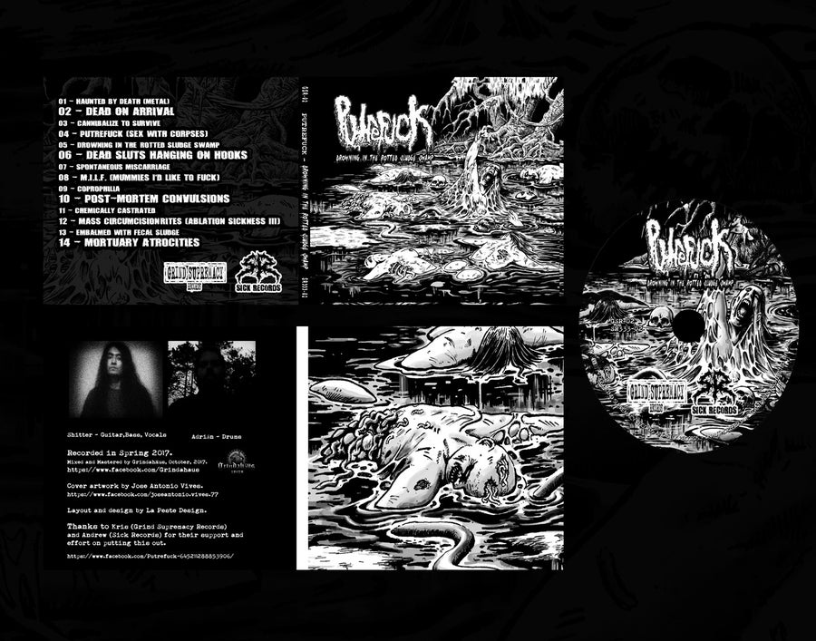 Image of PUTREFUCK - Drowning In The Rotted Sludge Swamp 4 Panel DigiPack Sealed LIMITED 300