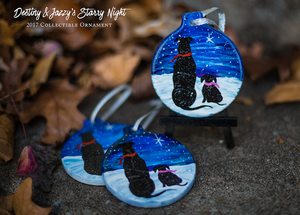 Image of 2017 Starry Night Christmas Ornament