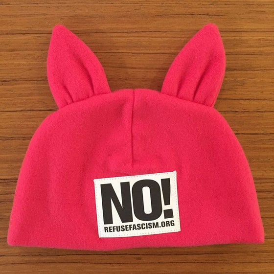 Image of Pink Refuse Fascism Hat