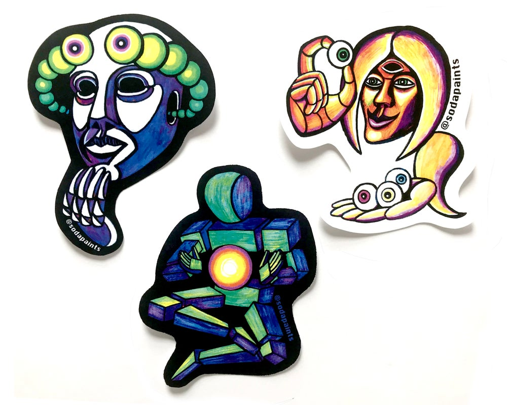 Image of Psychedelic Sticker Set