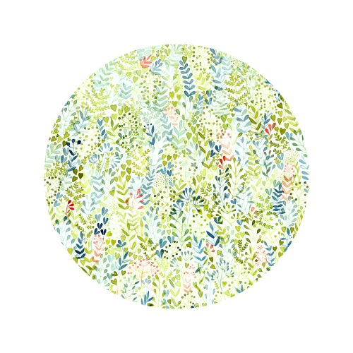 Image of Circle of nature - illustrated greeting card