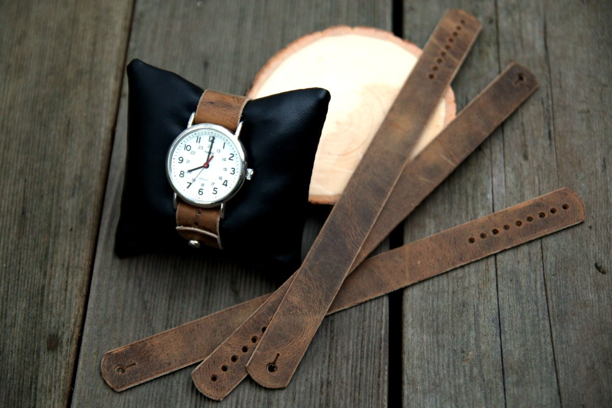 Image of Button Stud Watch Strap in Folklore Vintage