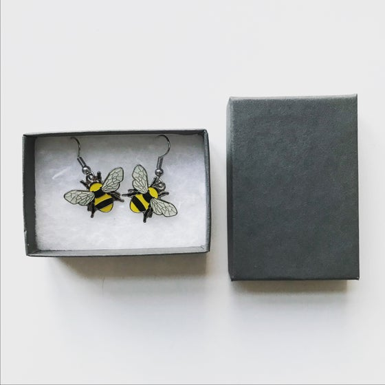 Image of Bee Enamel Earring Set