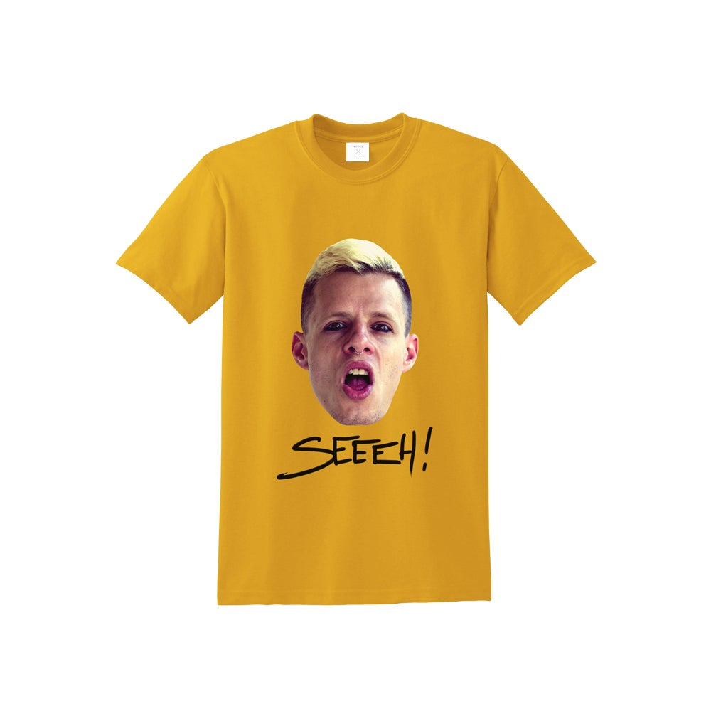 "Image of T-SHIRT ""SEEEH!"" YELLOW"