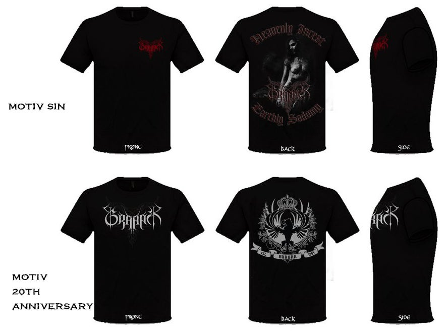 "Image of T Shirt ""Anniversary"" or ""SIN"""