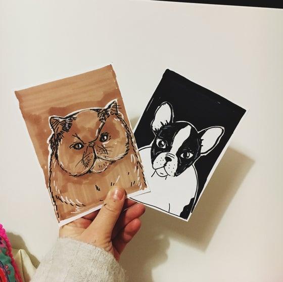 Image of Mini personalised pet portraits