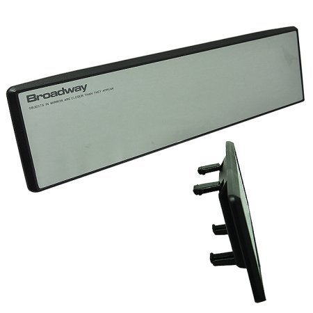 Image of Broadway Clip On Rear View Flat Mirror 270mm Clear Universal High Quality Safety