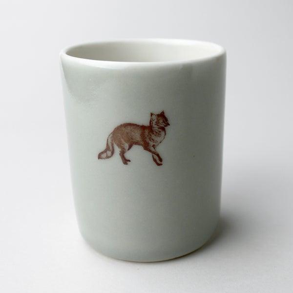 Image of 10oz tumbler with fox,  sage