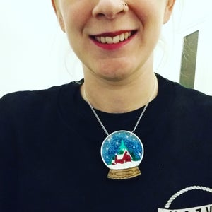 Image of Snow Globe Necklace or Brooch