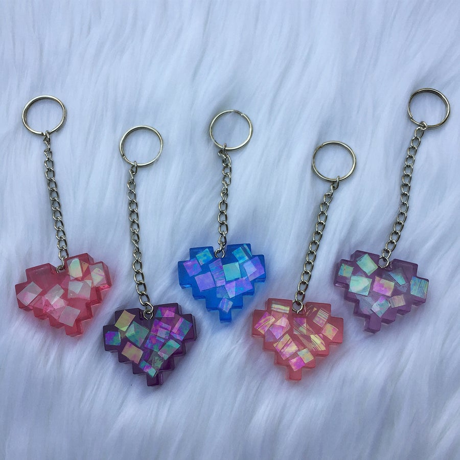 Image of Pixel Heart key chain