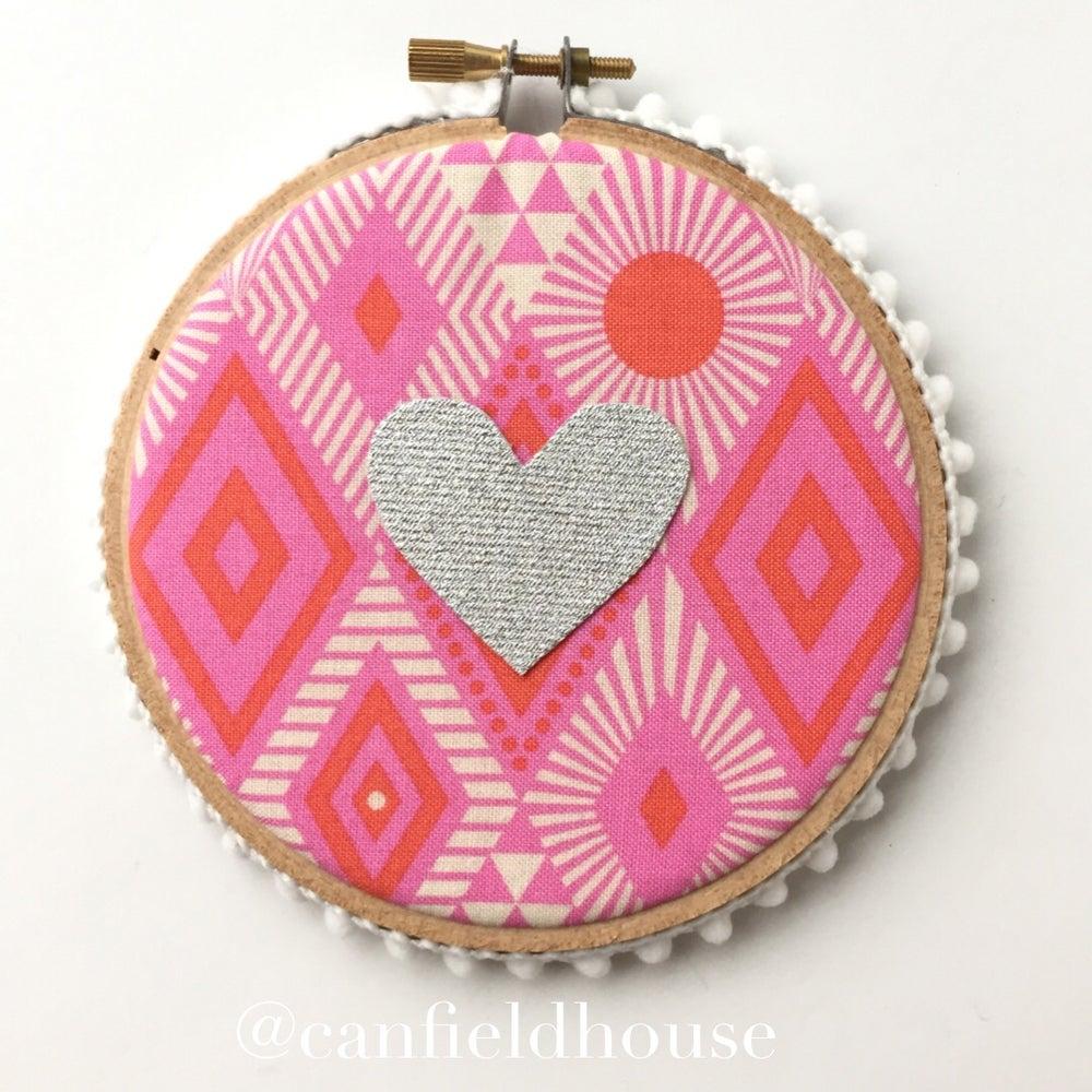 "Image of 4"" Mini Heart Hoops"