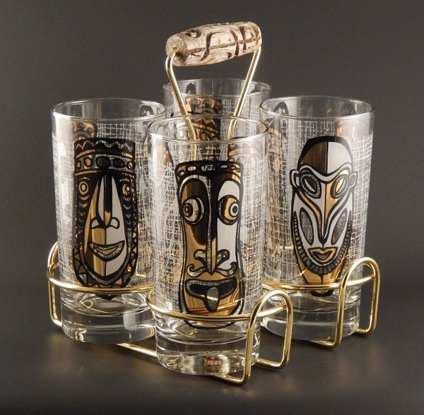 Image of Tiki Diablo Zombie Glass (4) set