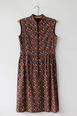 Image of SOLD Mandarin Collar Floral Tile Dress