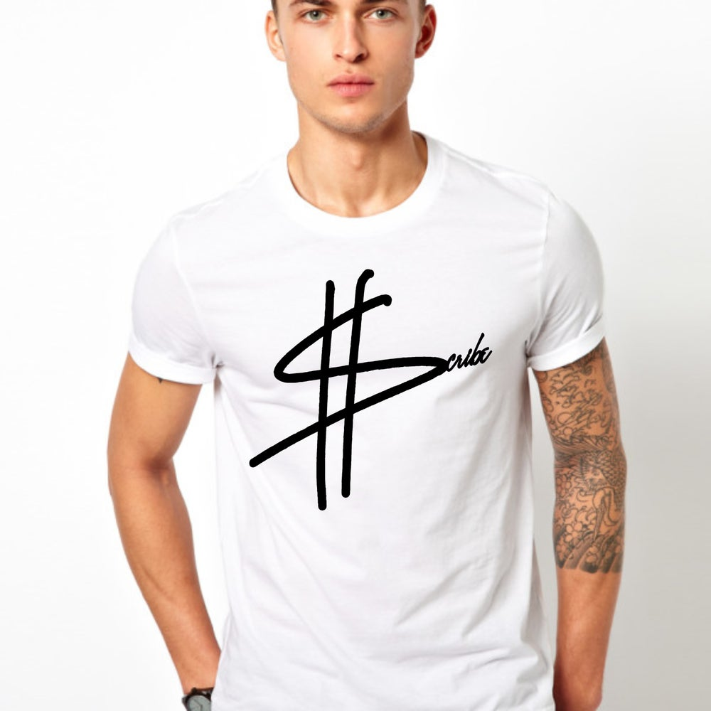 Image of White ScribeCash Logo T-shirt