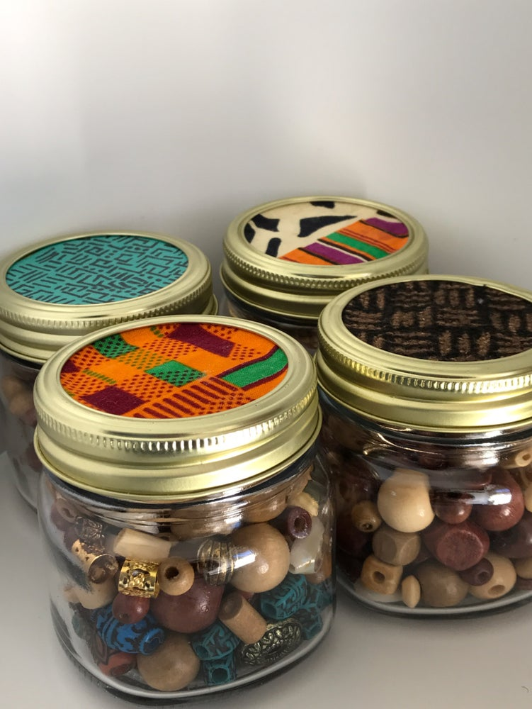 Image of The Hair Bead Jar (WOOD ONLY)