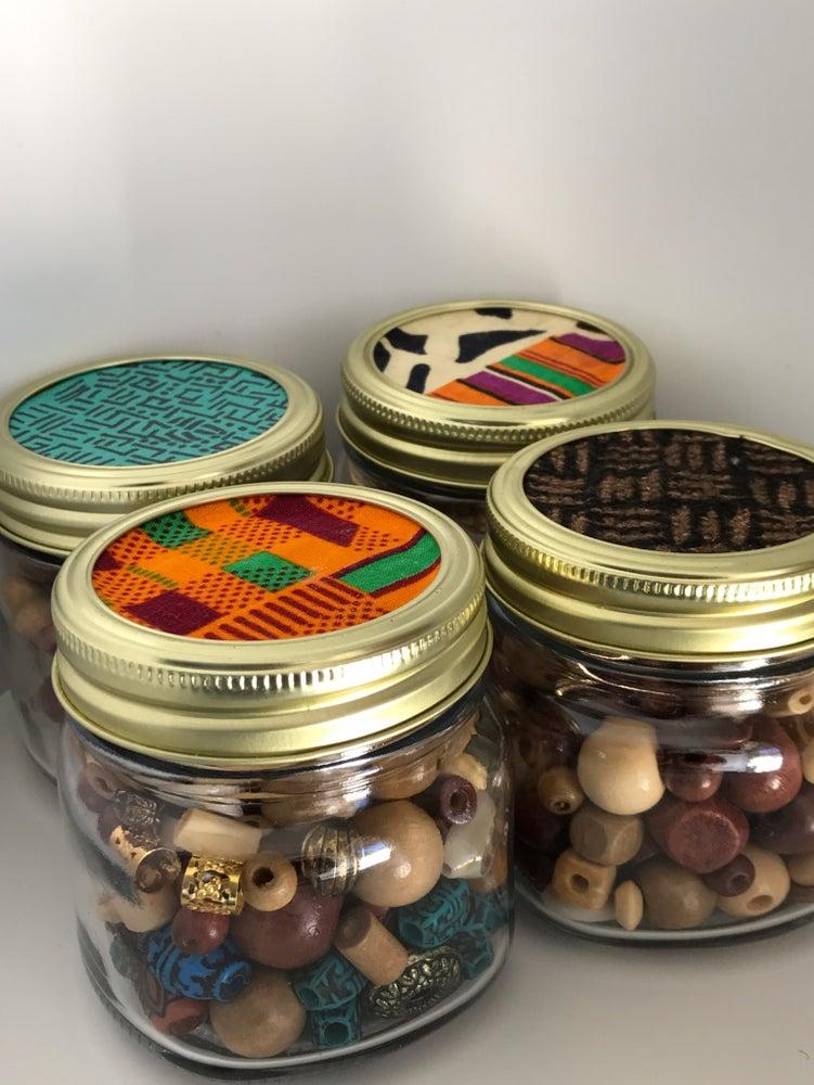 Image of The Hair Bead Jar (WOOD & TRIBAL)
