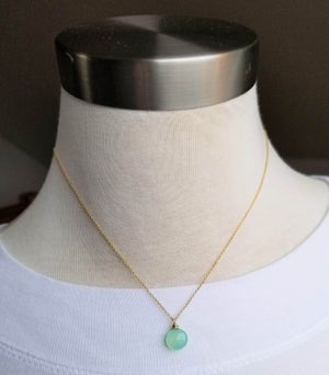 Image of Simple Aqua Chalcedony Necklace