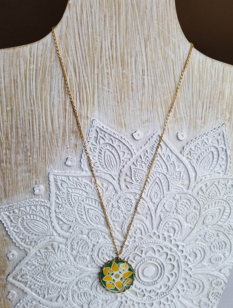 Image of Ciao Italy - Safron and Green Necklace