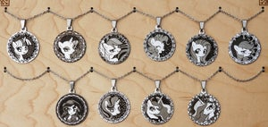 Image of Stainless Steel Pendants on matching chain