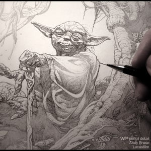 Image of Yoda: Star Wars Print- Artist Proof LIMITED (signed)