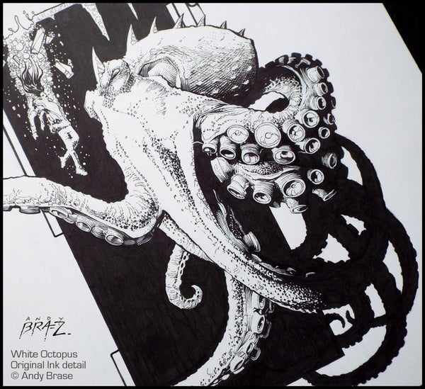 Image of White Octopus- 13x19 LIMITED edition HOLIDAY 2017 (signed)