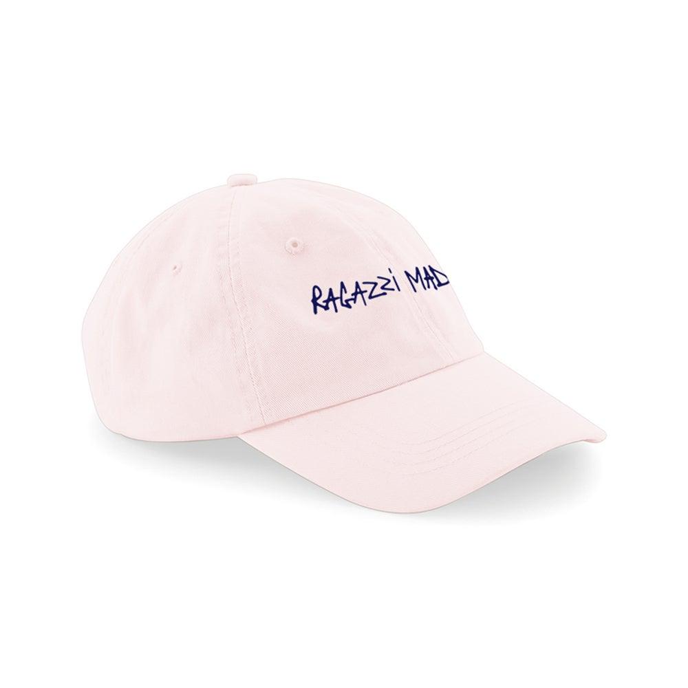 "Image of HAT ""RAGAZZI MADRE"" PASTEL PINK"