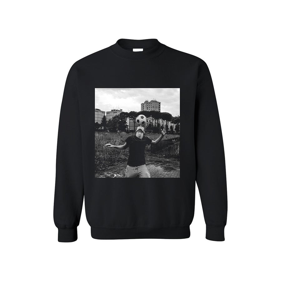 Image of SWEATSHIRT FOOTBALL / BLACK / UNISEX