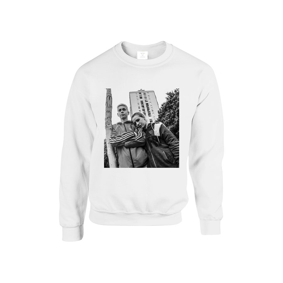 Image of SWEATSHIRT LOVERS / WHITE / UNISEX